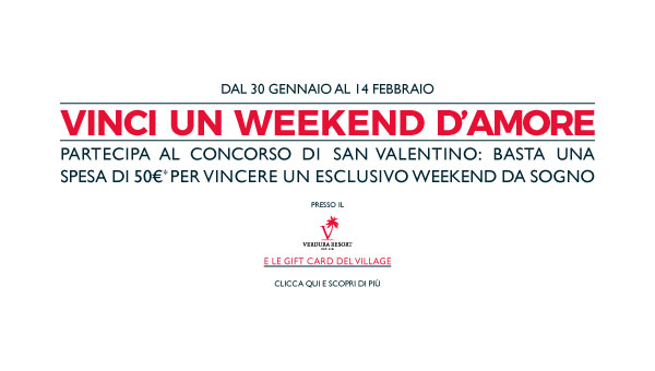 Concorso Sicilia Outlet Village Vinci un Weekend d'Amore